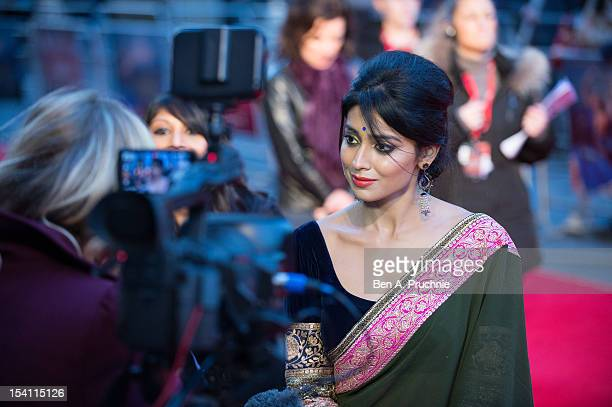 Shriya Saran attends the premiere of 'Midnight's Children' during the 56th BFI London Film Festival at Odeon West End on October 14 2012 in London...