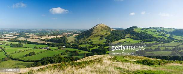 Shrophire Countryside and view of The Lawley, Shropshire, England, UK