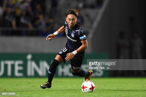 Shu Kurata of Gamba Osaka in action during the JLeague J1 match between Gamba Osaka and Yokohama FMarinos at Suita City Football Stadium on September...
