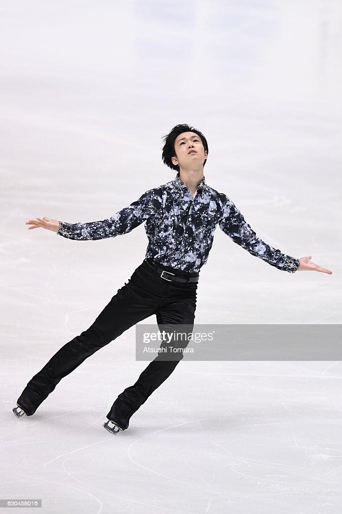 Shu Nakamura of Japan competes in the Men short program during the Japan Figure Skating Championships 2016 on December 23, 2016 in Kadoma, Japan.