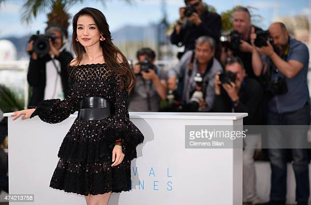 Shu Qi attends a photocall for 'Nie Yinniang' during the 68th annual Cannes Film Festival on May 21 2015 in Cannes France