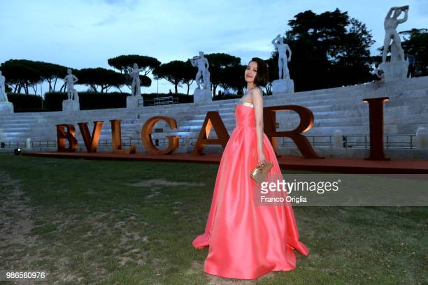 Shu Qi attends BVLGARI Dinner Party at Stadio dei Marmi on June 28 2018 in Rome Italy