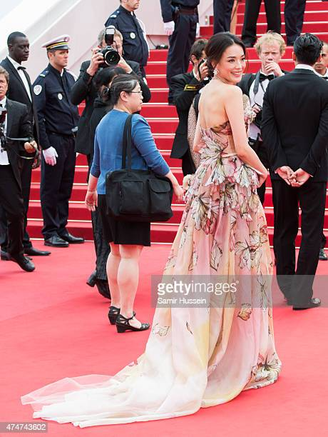 Shu Qi attends the closing ceremony and 'Le Glace Et Le Ciel' Premiere during the 68th annual Cannes Film Festival on May 24 2015 in Cannes France