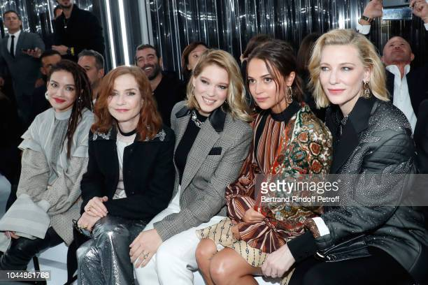 Shu Qi Isabelle Huppert Lea Seydoux Alicia Vikander and Cate Blanchett attend the Louis Vuitton show as part of the Paris Fashion Week Womenswear...