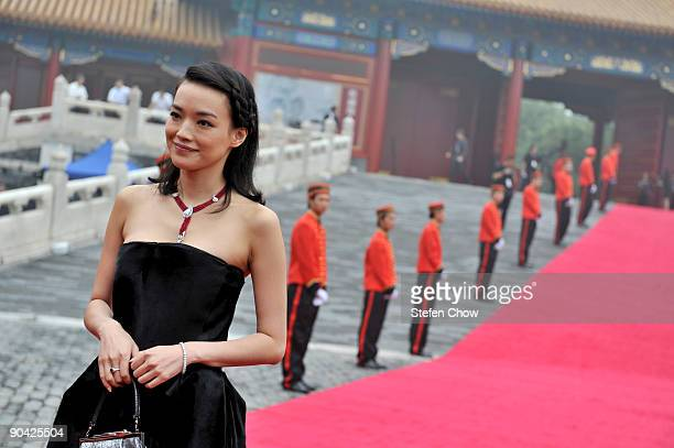 Shu Qi Taiwanese actress attends the opening of the 'Cartier Treasures' exhibition at the Forbidden City September 4 2009 in Beijing China