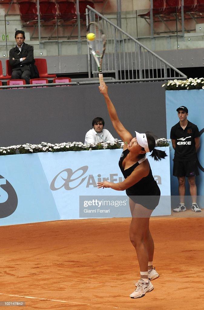 Shuai Peng, CHN, tennis in 'Mutua Madrilena Madrid Open' , 8th May 2010, in 'La Caja Magica'. Madrid, Spain.