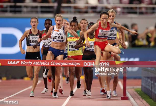 Shuangshuang Xu of China competes in the Women's 3000 metres Steeplechase heats during day one of 17th IAAF World Athletics Championships Doha 2019...