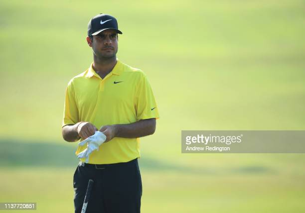 Shubhankar Sharma of India in action on Day Three of the Maybank Championship at Saujana Golf Country Club Palm Course on March 23 2019 in Kuala...