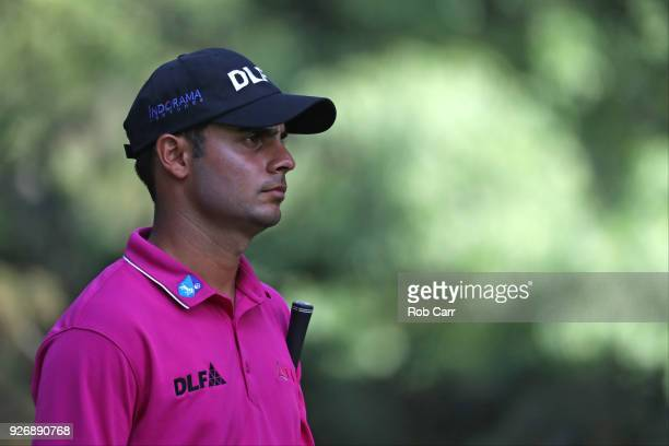 Shubhankar Sharma of India prepares for his 17th tee shot during the third round of World Golf ChampionshipsMexico Championship at Club de Golf...