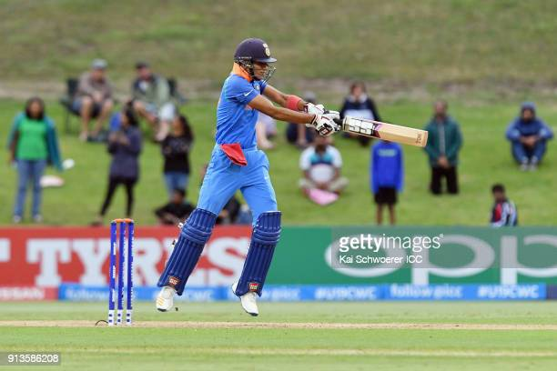 Shubman Gill of India bats during the ICC U19 Cricket World Cup Final match between Australia and India at Bay Oval on February 3 2018 in Tauranga...