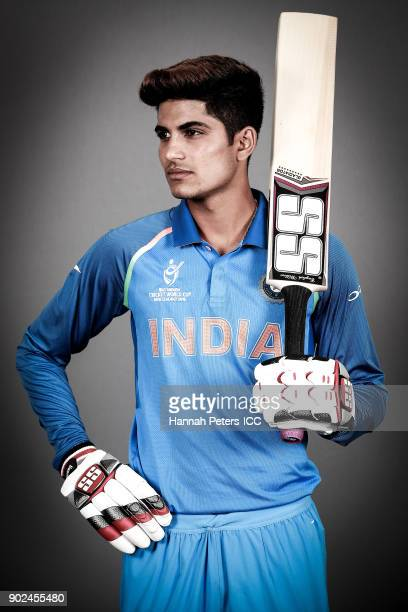 Shubman Gill poses during the India ICC U19 Cricket World Cup Headshots Session at Rydges Christchurch on January 8 2018 in Christchurch New Zealand