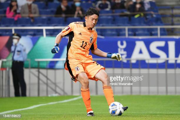 Shuichi Gonda of Japan in action during the FIFA World Cup Asian qualifier final round Group B match between Japan and Australia at Saitama Stadium...