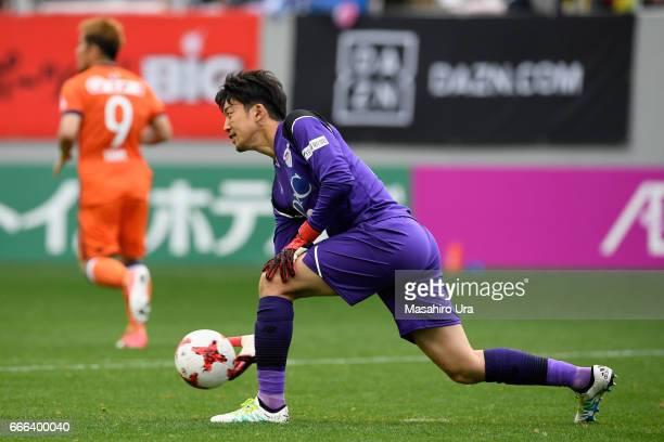 Shuichi Gonda of Sagan Tosu in action during the JLeague J1 match between Sagan Tosu and Albirex Niigata at Best Amenity Stadium on April 8 2017 in...