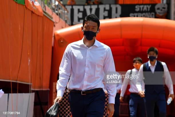 Shuichi GONDA of Shimizu S-Pulse is seen on arrival at the stadium prior to the J.League Meiji Yasuda J1 match between Shimizu S-Pulse and Yokohama...