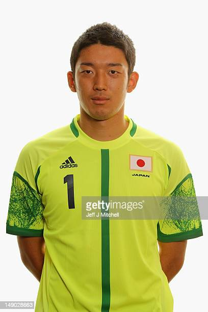 Shuichi Gonda poses during a Japan Men's Official Olympic Football Team portrait session on July 22 2012 in Glasgow Scotland