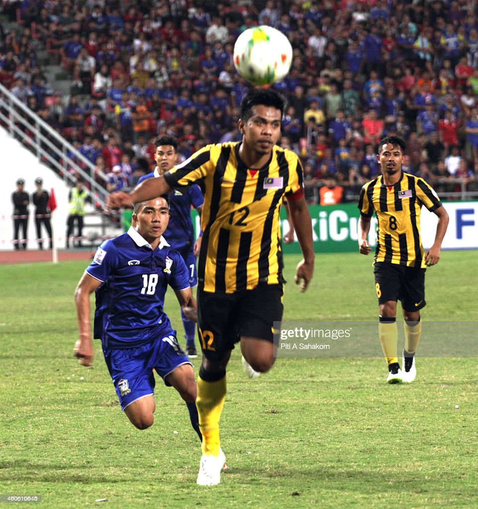 Shukor Adan controls the ball during first leg of the 2014 AFF Suzuki... News Photo - Getty Images
