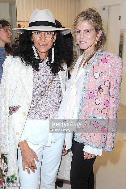Shula Nazarian and Allison Berg attend the Chloe W Magazine and MOCA Private Shopping Event with Maria Bell Sylvia Chivaratanond and Azadeh...