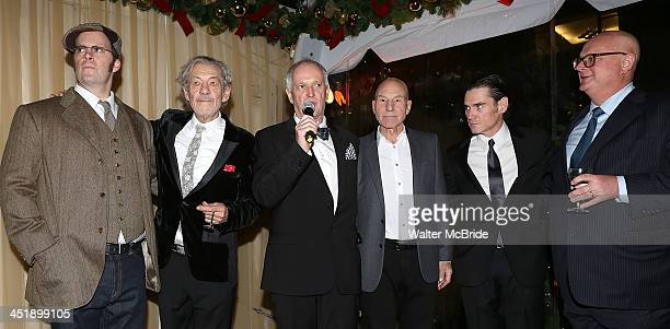 Shuler Hensley Ian McKellen Director Sean Mathias Patrick Stewart Billy Crudup and Producer Stuart Thompson attend the No Man's Land Waiting For...