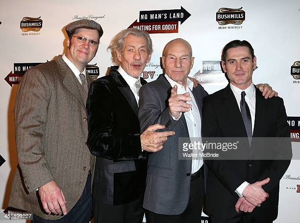 Shuler Hensley Ian McKellen Patrick Stewart and Billy Crudup attend the 'No Man's Land' 'Waiting For Godot' Opening Night after party at the Bryant...