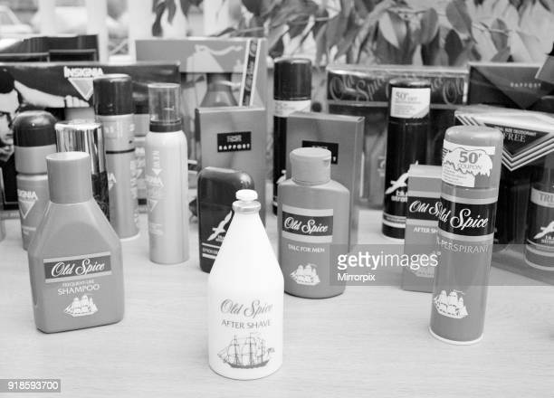 Shultons Cosmetics factory Seaton Delaval Northumberland North East England 16th May 1990 Products