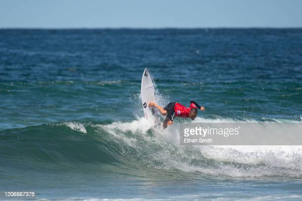 Shun Murakami of Japan surfing in Round 3 of the 2020 Sydney Surf Pro at Manly Beach on 11 March 2020 in Sydney Australia today