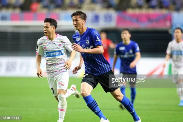 Shun NAGASAWA of Oita Trinita in action during the J.League Meiji Yasuda J1 match between Oita Trinita and Sagan Tosu at Showa Denko Dome on May 15,...