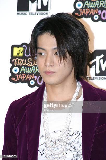 Shun Oguri during MTV Video Music Awards Japan 2005 Press Room at Tokyo Bay NK Hall in Urayasu Japan