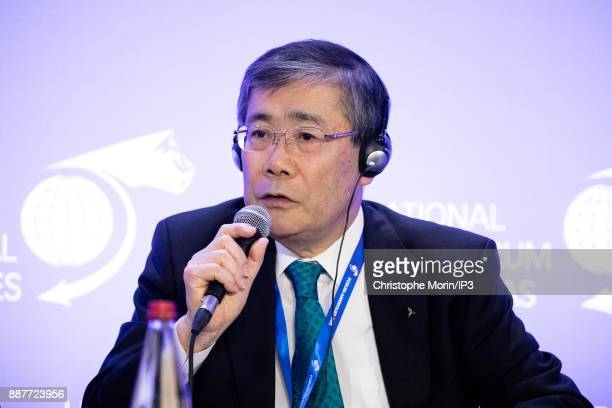 Shunichi Miyanaga President and CEO Mitsubishi Heavy Industries attends the first edition of the Conference of Paris of the International Economic...