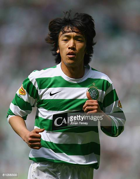Shunsuke Nakamura of Celtic in action during The Clydesdale Bank Scottish Premier League match between Celtic and Hibernian at Celtic Park on May 11,...