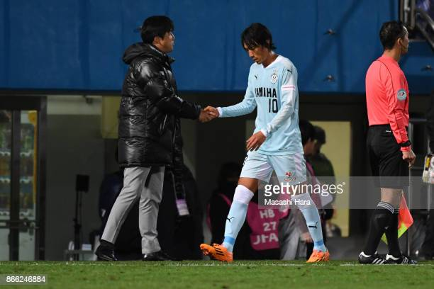 Shunsuke Nakamura of Jubilo Iwata is seen after replaced during the 97th Emperor's Cup quarter final match between Yokohama FMarinos and Jubilo Iwata...