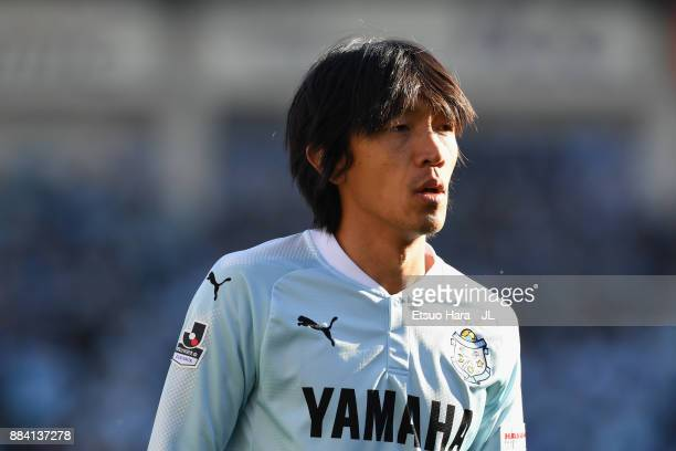 Shunsuke Nakamura of Jubilo Iwata looks on during the JLeague J1 match between Jubilo Iwata and Kashima Antlers at Yamaha Stadium on December 2 2017...