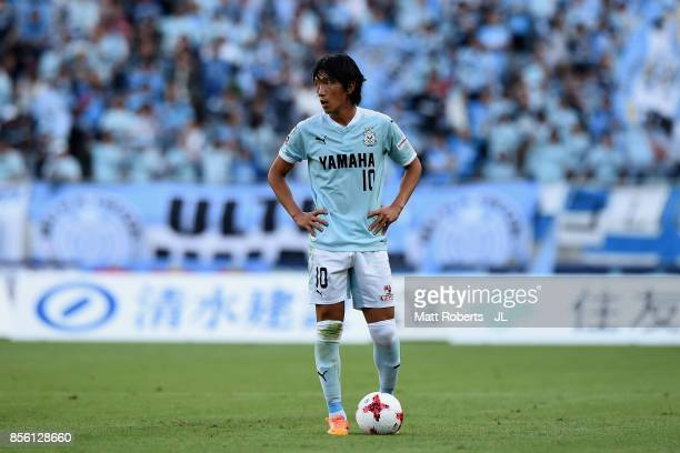 Shunsuke Nakamura of Jubilo Iwata prepares to take a free kick during the JLeague J1 match between FC Tokyo and Jubilo Iwata at Ajinomoto Stadium on...