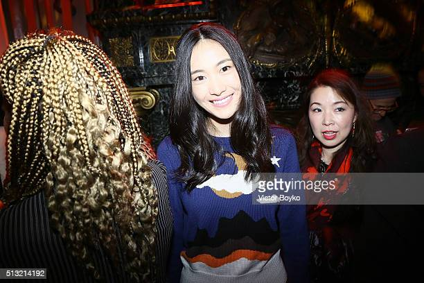 Shupei Qin attends Prom 2016 Party hosted by Coach for the Paris Flagship opening as part of the Paris Fashion Week Womenswear Fall/Winter 2016/2017...