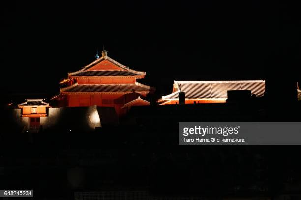 Shuri castle night view
