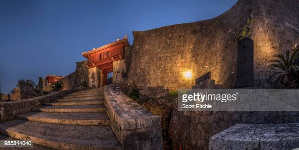 shuri castle - okinawa prefecture stock pictures, royalty-free photos & images
