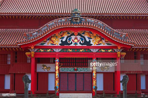 Shuri Castle's Seiden Main Hall in Naha on Japan's Okinawa Island