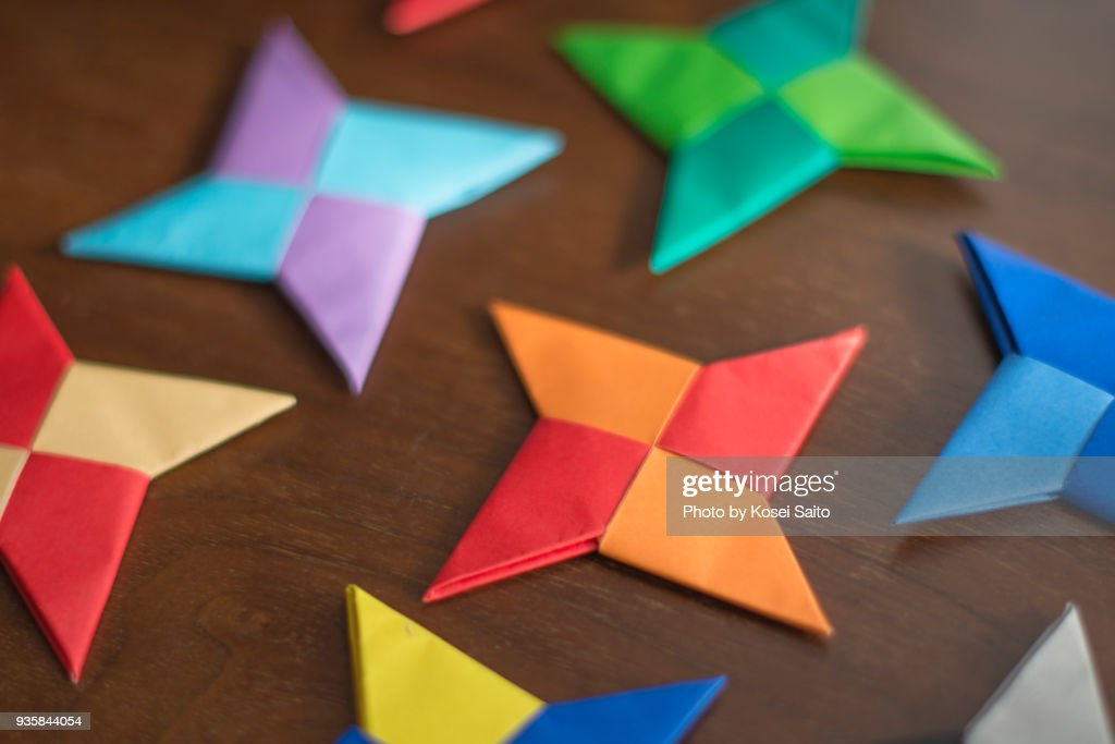 Shuriken Of Origami Stock Photo Getty Images