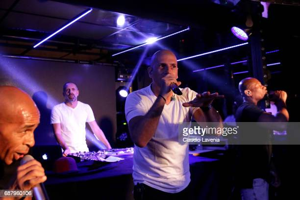 Shurik'n and Akhenato of IAM perform at Villa Schweppes Cannes during the 70th annual Cannes Film Festival at Villa Schweppes on May 24 2017 in...