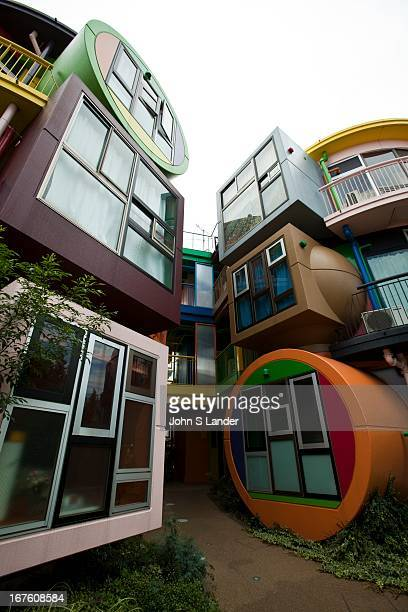 Shusaku Arakawa designed the Reverse Destiny Loft Apartments in the Tokyo suburb of Mitaka in conjunction with his poet partner Madeline Gins Painted...