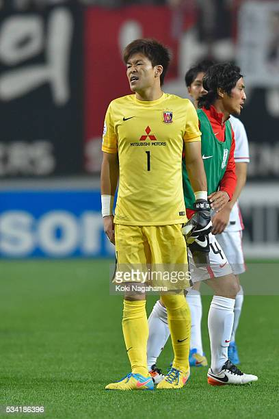 Shusaku Nishikawa looks dejected afeter losing the AFC Champions League Round Of 16 match between FC Seoul and Urawa Red Diamonds at Seoul World Cup...