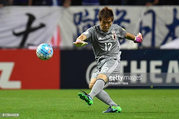 Shusaku Nishikawa of Japan in action during the 2018 FIFA World Cup Qualifiers match between Japan and Iraq at Saitama Stadium on October 6 2016 in...