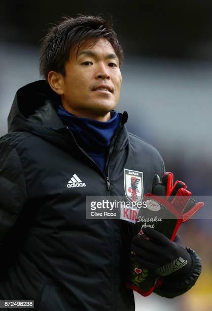 Shusaku Nishikawa of Japan looks on during the international friendly match between Brazil and Japan at Stade PierreMauroy on November 10 2017 in...