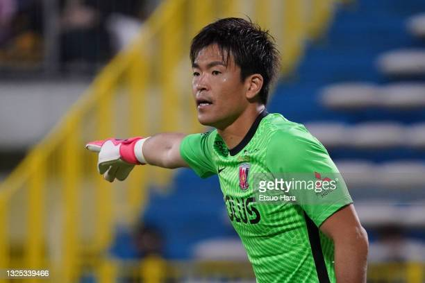 Shusaku Nishikawa of Urawa Red Diamond in action during the J.League Meiji Yasuda J1 match between Kashiwa Reysol and Urawa Red Diamonds at Sankyo...