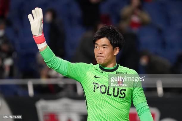 Shusaku Nishikawa of Urawa Red Diamonds applauds fans after the J.League Meiji Yasuda J1 match between Urawa Red Diamonds and Consadole Sapporo at...