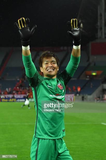Shusaku Nishikawa of Urawa Red Diamonds celebrates the win after the AFC Champions League semi final second leg match between Urawa Red Diamonds and...