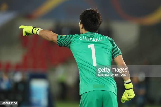 Shusaku Nishikawa of Urawa Red Diamonds gestures during the FIFA Club World Cup UAE 2017 match between Al Jazira and Urawa Red Diamonds at Zayed...