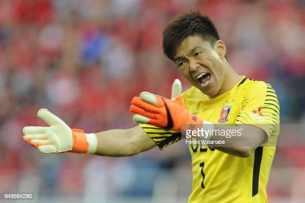 Shusaku Nishikawa of Urawa Red Diamonds gestures during the JLeague J1 match between Urawa Red Diamonds and Consadole Sapporo at Saitama Stadium on...