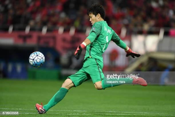 Shusaku Nishikawa of Urawa Red Diamonds in action during the AFC Champions League Final second leg match between Urawa Red Diamonds and AlHilal at...