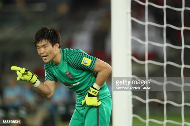 Shusaku Nishikawa of Urawa Red Diamonds in action during the FIFA Club World Cup UAE 2017 match between Al Jazira and Urawa Red Diamonds at Zayed...