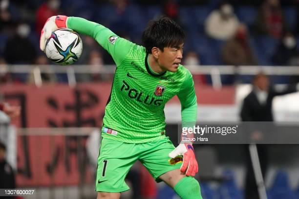 Shusaku Nishikawa of Urawa Red Diamonds in action during the J.League Meiji Yasuda J1 match between Urawa Red Diamonds and Consadole Sapporo at the...